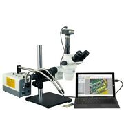 2x-270x Stereo Microscope+150w Cold Light+0.3x0.5x Barlow+boom Stand+14mp Camera
