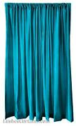 216 H Turquoise Velvet Curtain Long Panel Custom Extra Large Wall Cover Drapes