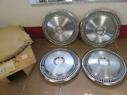 1973-79 Chevelle Camaro Nova Hubcaps With Emblems Nos Gm In Box 115