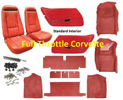 1970 - 1975 Corvette Interior Package Carpet Door Panels Seat Covers And Kit C3