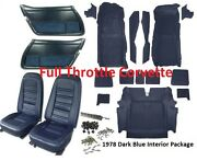 1978 Corvette Interior Package Carpet Door Panels Seat Covers And Kit C3 New