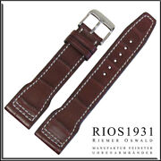 22x18 Mm Rios1931 For Panatime - Mahogany Hurricane - Alligator Watch Band For I