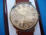 Rare 18k Gold Vintage Movado Watch With Manual Winding Movement.