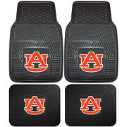 New Ncaa Auburn Tigers Car Truck Front / Back Rubber All Weather Floor Mats