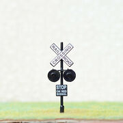 4 X Ho Scale Railroad Crossing Signals 2mm Leds Made + 2 Circuit Board Flashers