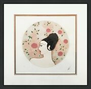 Erte Roses 1987   Hand Signed Print   From Roses And Carnations Suite   Framed
