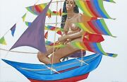 Philip Pearlstein Model With Chinese Kite 2005 | Large Signed Print | Gallart