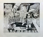 Red Grooms Heads Up D.h. 1980 | Signed | Etching/aquatint | Coa | See Live
