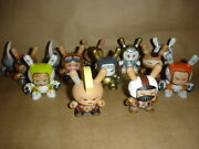Kidrobot Huck Gee Post Apocalypse Dunny Full Set Of 13 Signed + Box And Card 1 2 3