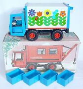 Grip Gdr 125 Taurus Transport Truck And Crates Tin Plated Toy Car Mib`74 Rare