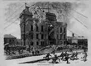 Rockford Illinois Winnebago County 1877 History Fatal Disaster At Court House