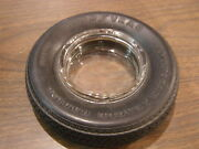 Original Goodyear American Eagle Radial Tire Ash Tray Advertising Clear Glass