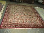 Vintage Russian Marked Azerbaijan Hand Knotted Wool Caucasian Rug 6'8 X 8'6