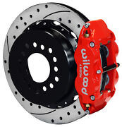 Wilwood Disc Brake Kit,rear Parking,gm/chevy Staggered Shocks,13 Drilled,red