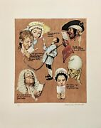 Norman Rockwell The Golden Age 1973 | Signed Print | Poor Richard's Almanac