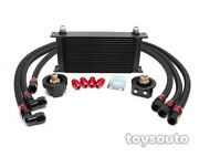 Rev9 Black Bar And Plate 19 Row Engine Oil Cooler + Filter Adapter Relocation Kit