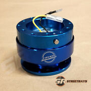 Nrg Steering Wheel Gen 2.0 Quick Release Adaptor Kit Blue Body And Blue Ring