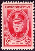 Us Postage Stamp Photo Magnet John Philip Sousa 1940 Issue 2 Cents