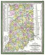Map Antique 1850 Mitchell Indiana State Large Reproduction Poster Print Pam1706