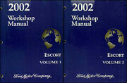 2002 Ford Escort And Zx 2 Shop Manual 2 Book Set Zx2 Repair Service Workshop Oem