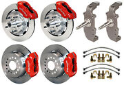 Wilwood Disc Brake Kit And 2 Drop Spindles55-5712 Rotorsred Calipersheidtand039s