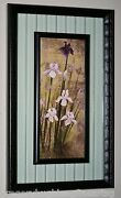 Beautiful Flower Violet And White Orchids On Floating Glass Double Framed Rare