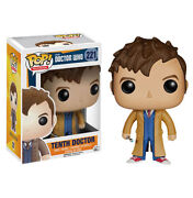 New Dr Who - 10th Tenth Doctor With Screwdriver 221 Pop Tv Vinyl - Funko 4627