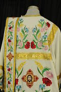 Orthodox Deacon Vestment Embroidered Flowers 100 Linen