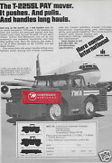 Twa Trans World Airlines 1979 International Paymover Tractor 707 Push/pull Ad