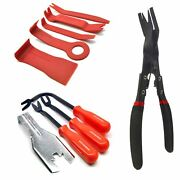 5pc Plastic And Metal Trim Car Panel Removal Tools And Pliers Non Scratch