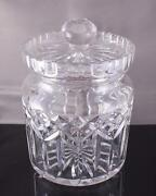 Waterford Crystal Lismore Biscuit Jar Cookie Canister Lidded Clear 7 Tall