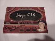 Very Rare Johnny Mize 2011 Topps Leather Nameplate Mgl-jm Card 60/99 Nmmt