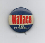 1960s Wallace For President Political Pinback Button
