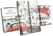 Italy Collage Grunge City Canvas Wall Art Picture Print Va
