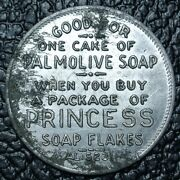 Palmolive Soap Token - Good For One Cake Of Soap When Purchase Princess Flakes