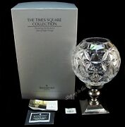 Waterford Crystal Times Square Star Of Hope Hurricane Lamp Use As Candle Holder