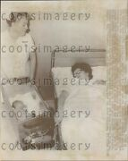 1968 Mother Looks At Newborn Baby In 1960s Incubator Sweden Press Photo