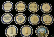Usn Navy Officer Rank 10 Challenge Coin Lot Collection