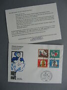 Germany Brd, Cover Fdc 1967, Fairy-tales Mother Hulda Spinning Bird Cock Rooster
