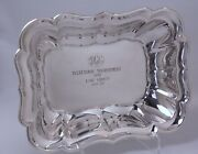 Windsor Sterling Silver Double Vegetable Bowl Reed And Barton 41and039 Low Cross Trophy