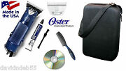Oster Turbo A5 2 Speed Clipperand10 Wide Blade Kit-case,dvd-dog,horse Grooming