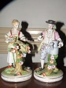Pr Antique Porcelain Figurines Man And Woman Made In Japan Very Good Quality