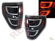 2009-2014 Ford F150 F-150 Pickup G2 Black Led Tube Tail Lights Lamps Rh And Lh