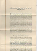 1915 Prospectus From The Goldfield Deep Mines Company Of Nevada