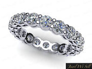 3.00ct Round Diamond Shared Prong Gallery Eternity Wedding Ring 18k Gold G Si1