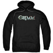 Grimm Police Drama Supernatural Tv Series Nbc Bloody Logo Adult Pull-over Hoodie