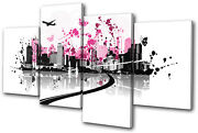 City Abstract Floral Vector Multi Canvas Wall Art Picture Print Va