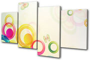 Abstract Vector Colourful Floral Multi Canvas Wall Art Picture Print Va