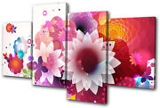 Abstract Floral Swirls Vector Multi Canvas Wall Art Picture Print Va