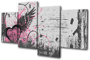 Love Abstract Grunge Vector Multi Canvas Wall Art Picture Print Va
